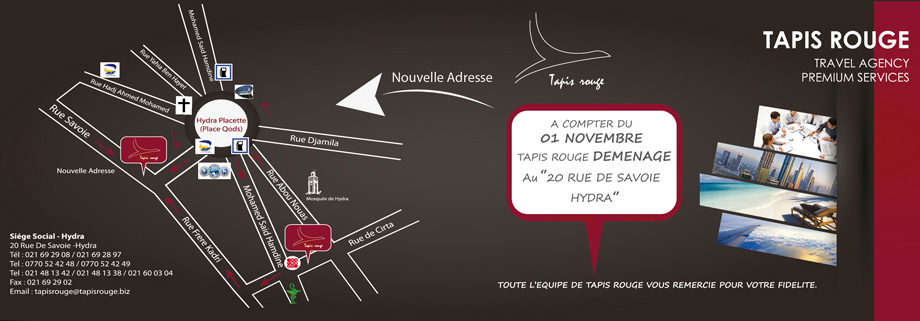 agence de voyage tapis rouge hydra